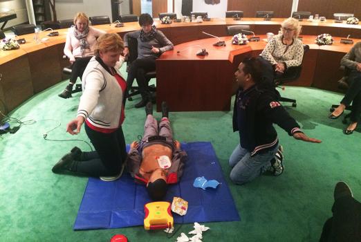 BRN Brandbeveiliging Woerden kinder reanimatie en AED gebruik